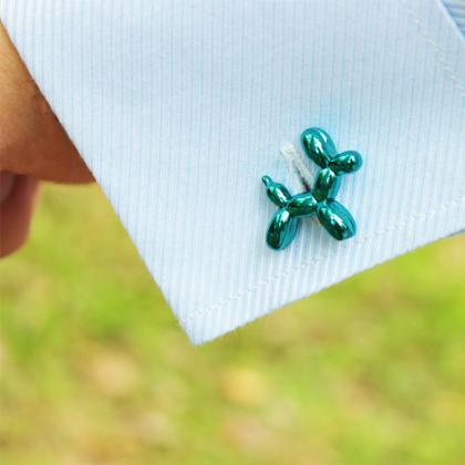 Balloon Dog Cufflinks,Poodle Dog..