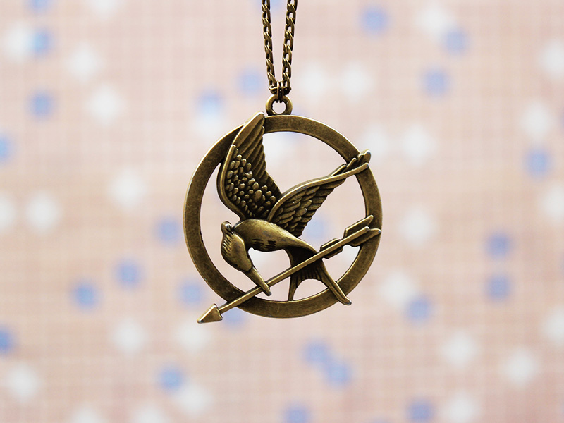 Mockingjay pin necklace3d bronze hunger games necklacehipster mockingjay pin necklace3d bronze hunger games necklacehipster jewelrycatching fire necklacebird necklacehigh quality necklace aloadofball Images