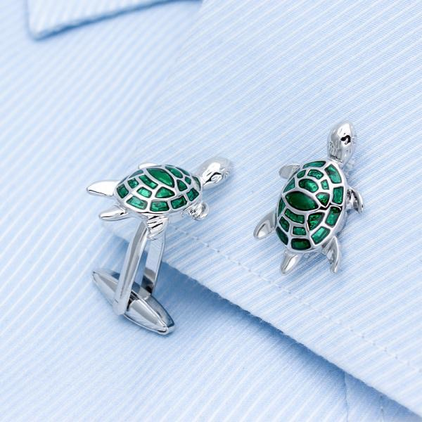 Green Turtle Cufflinks,Cute Turtle cufflinks,Gift for men,Christmas gift